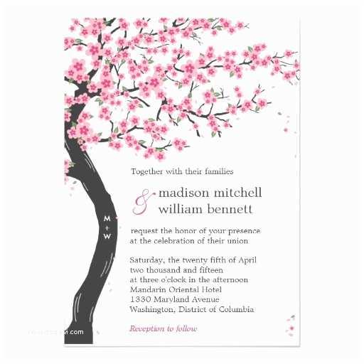 Cherry Blossom Wedding Invitations Cherry Blossoms Wedding Invitations
