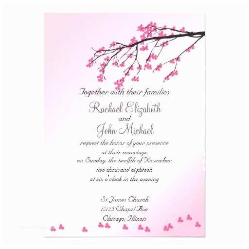 "Cherry Blossom Wedding S Pink Cherry Blossom Wedding  5"" X 7"""
