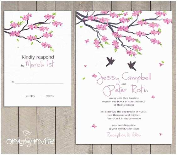 Cherry Blossom Wedding Invitations Pinterest • the World's Catalog Of Ideas