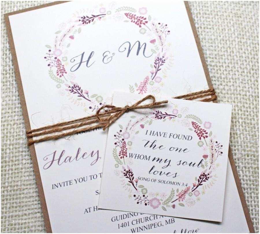 Chic Wedding Invitations Floral Wedding Invitations Shabby Chic Wedding