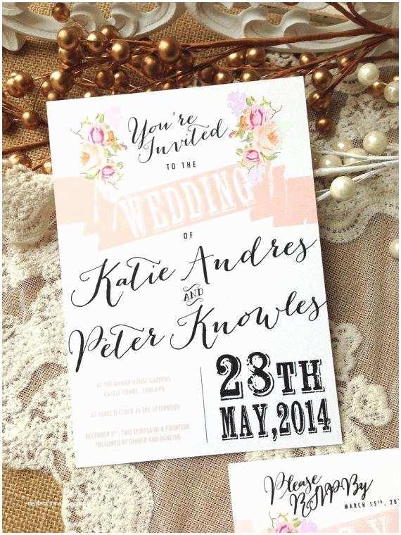 Chic Wedding Invitations Rustic Wedding Invitation Suite Unique Custom Designed