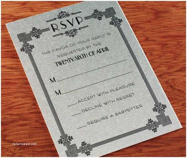 Chicago Wedding Invitations Art Deco Wedding Invitation Design Chicago