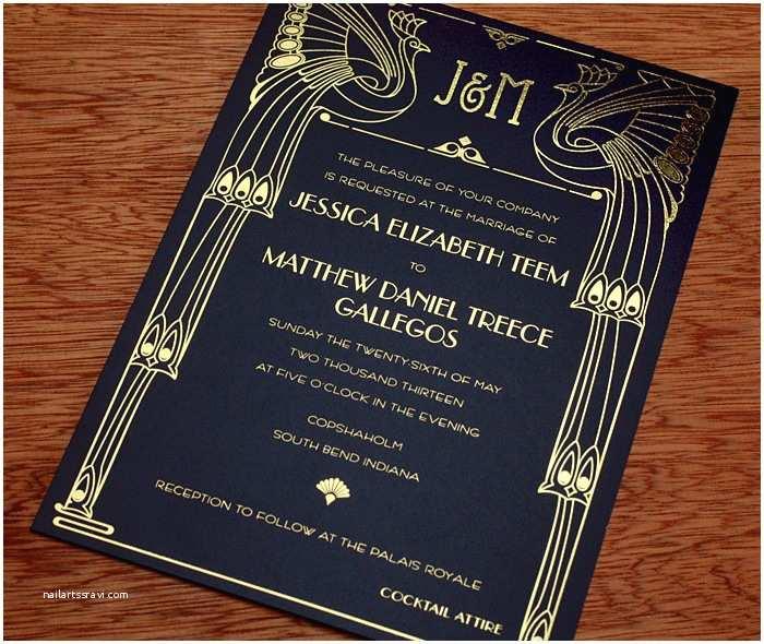 Chicago Wedding Invitations Art Deco Wedding Invitation Gallery Chicago
