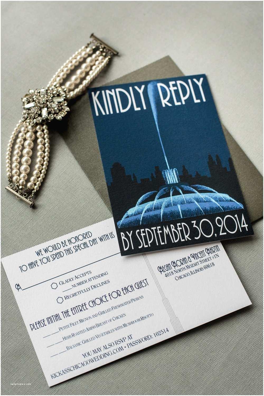 Chicago Wedding Invitations Chicago Wedding Invitation — ashley Parker Creative
