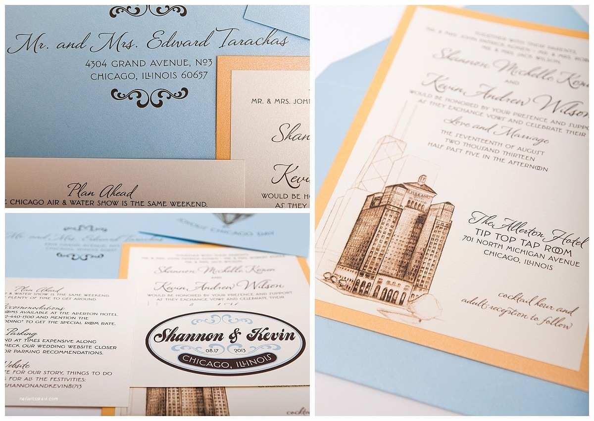 Chicago Wedding Invitations Chicago Wedding Invitations Gourmet Invitations