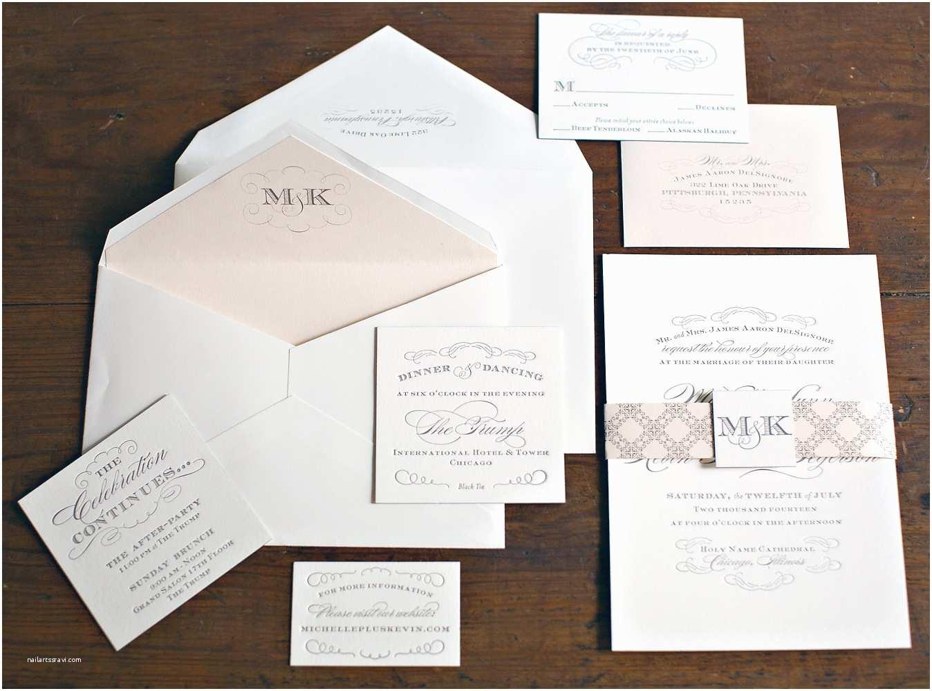 Chicago Wedding Invitations Nico and Lala Chicago Trump Hotel Wedding