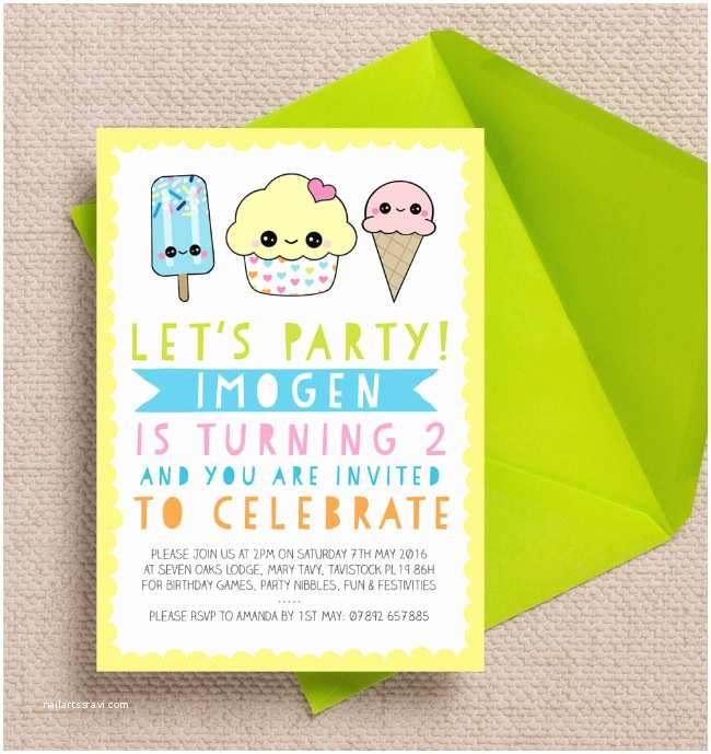 Childrens Birthday Party Invitations Brightly Coloured Kids Birthday Party Invitations & Ideas