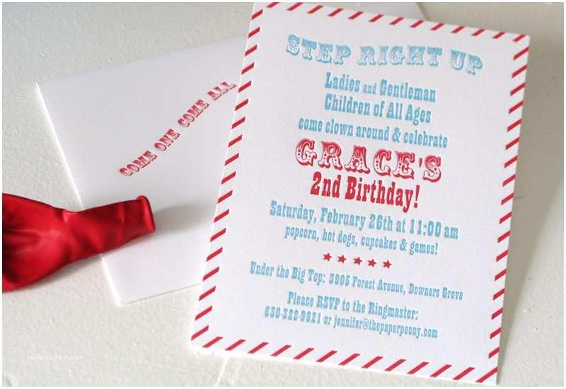 Childrens Birthday Party Invitations Childrens Carnival Birthday Invitations – Invitations Card