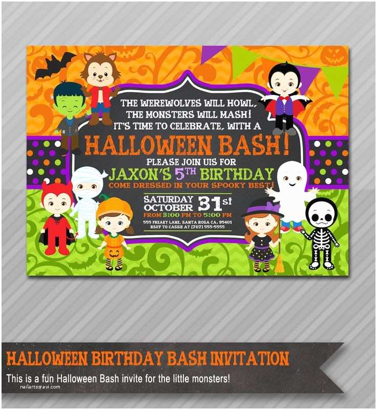 Childrens Halloween Party Invitations Best 25 Halloween Birthday Invitations Ideas On Pinterest