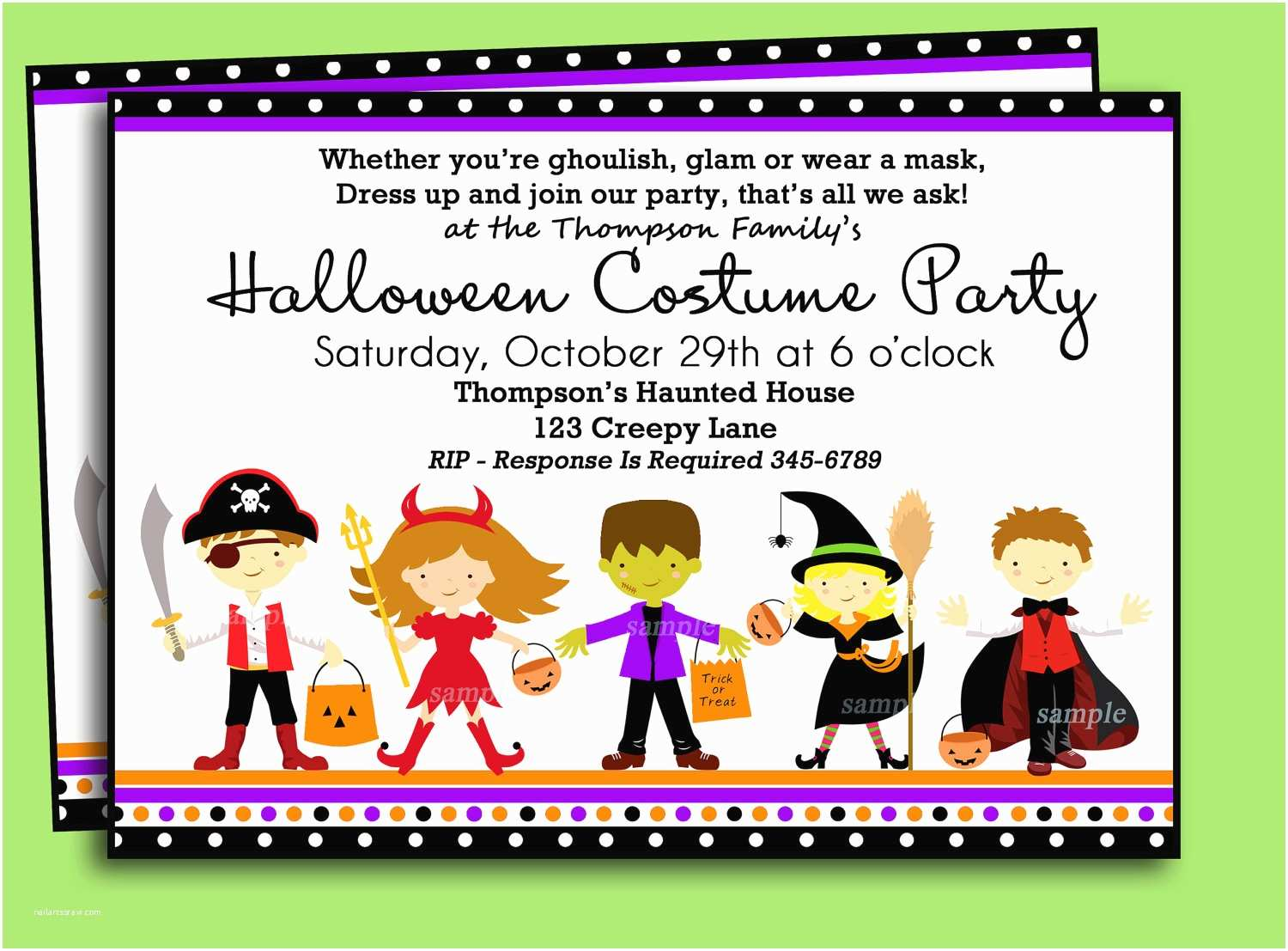Childrens Halloween Party Invitations Costumes Birthday Party Invitation Wording – Festival