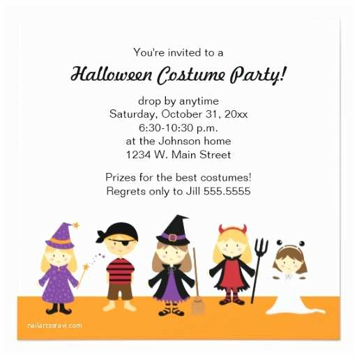 Childrens Halloween Party Invitations Kids Halloween Costume Party Invitations