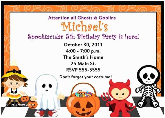 Childrens Halloween Party Invitations Mommys Treasures October 2012
