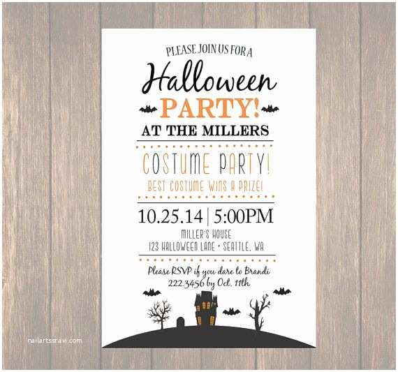 Childrens Halloween Party Invitations Printable Halloween Invitation Diy Halloween Costume