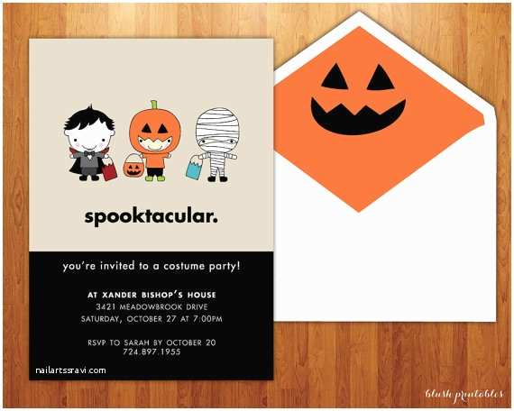 Childrens Halloween Party Invitations Spooktacular Kids Halloween Party Invitation Birthday