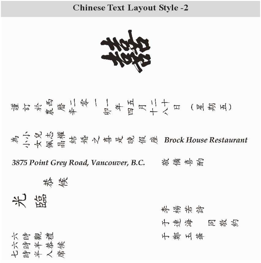 Chinese Wedding Invitation Chinese Wedding Invitation Template