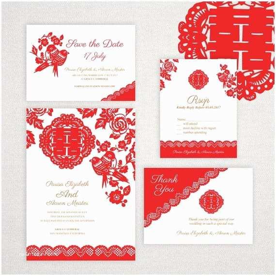 Chinese Wedding Invitation Template Diy Printable Editable Chinese Wedding Invitation Save