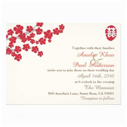 Chinese Wedding Invitation Template Double Happiness Chinese Wedding Invitation
