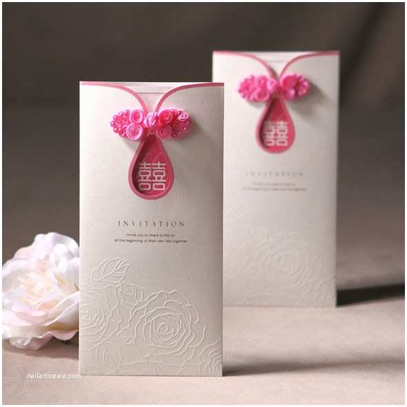 Chinese Wedding Invitation Traditional Chinese Knotted Design Wedding Invitations