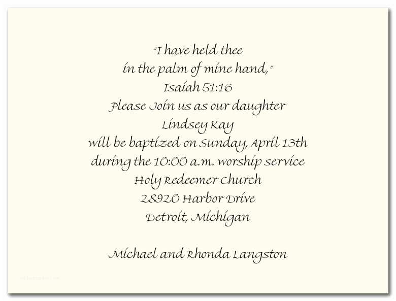 Christening Invitation Wording Baptism Invitation Wording Quotes
