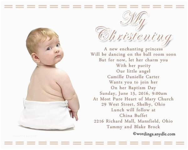 Christening Invitation Wording Baptism Invitation Wording Samples Wordings and Messages