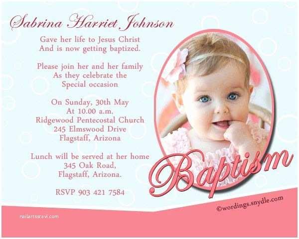 Christening Invitation Wording Christening Invitation Example the 25 Best Baptism