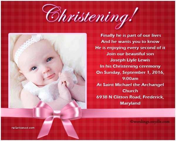 Christening Invitation Wording Christening Invitation Wording Wordings and Messages