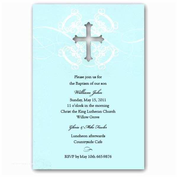 Christening Invitations Boy Baptism Invitation Samples