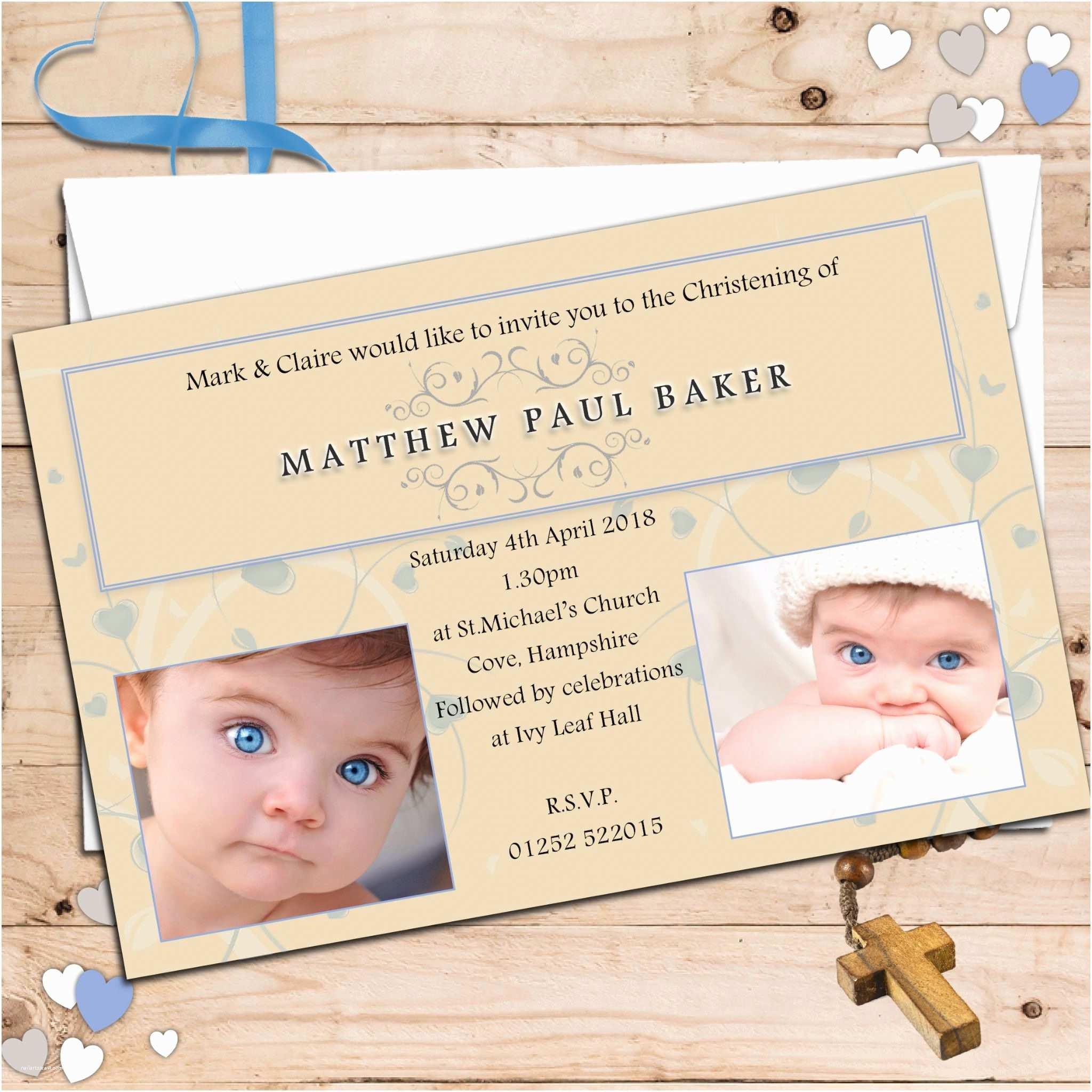 Christening Invitations Boy Baptism Invitations Baptism Invitation Template