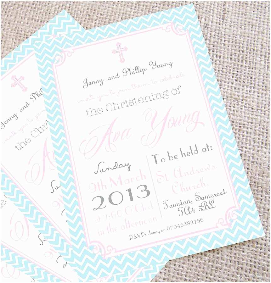 Christening Invitations Personalised Christening Invitations