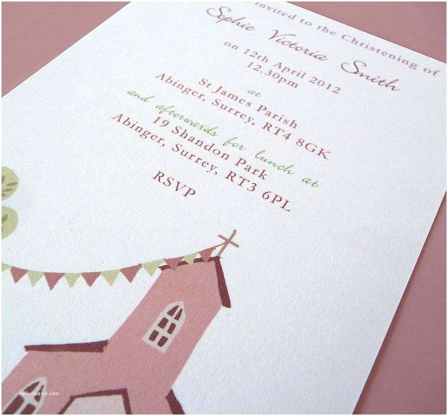 Christening Invitations Personalised Christening or Baptism Invitations by Molly