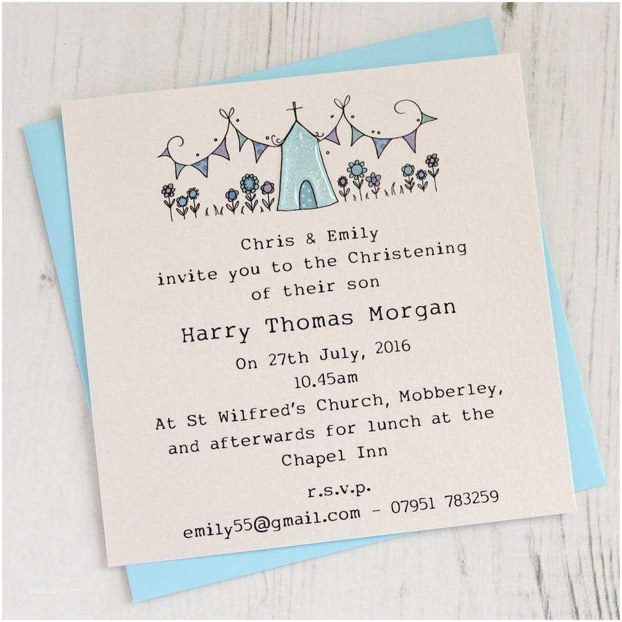 Christening Invitations Personalised Pack Of Christening Invitations by Eggbert
