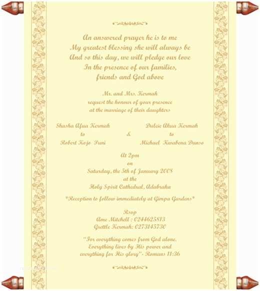 Christian Wedding Invitation Wording Samples From Bride and Groom Christian Samples Christian Printed Text Christian