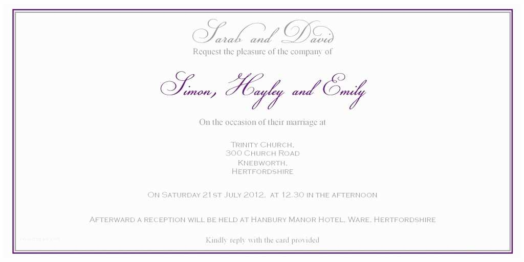 Christian Wedding Invitation Wording Samples From Bride and Groom Christian Wedding Invitation Wording From Bride and Groom