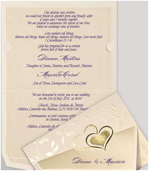 Christian Wedding Invitation Wording Samples From Bride and Groom Christian Wedding Invitation Wording