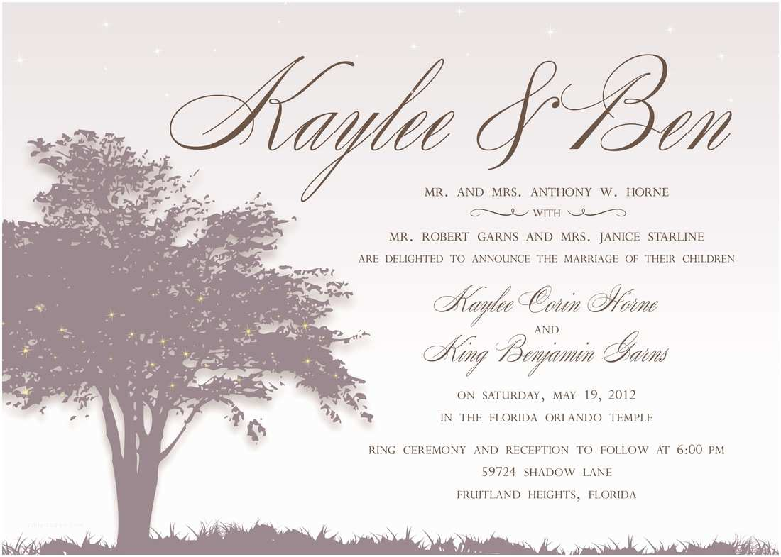 Christian Wedding Invitation Wording Samples From Bride and Groom Wedding Invitation Wording From Bride and Groom