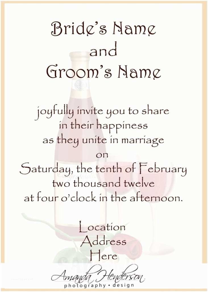 Christian Wedding Invitation Wording Samples From Bride and Groom Wedding Structurewedding Invitation Wording Examples