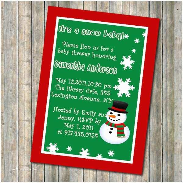Christmas Baby Shower Invitations Baby Shower theme