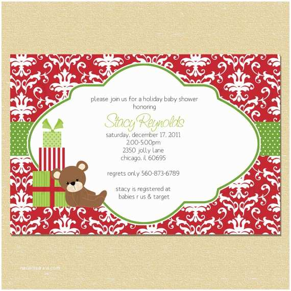 Christmas Baby Shower Invitations Christmas Baby Shower Ideas – Aa Gifts & Baskets Idea Blog