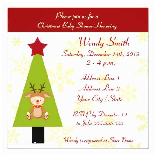 Christmas Baby Shower Invitations Christmas Baby Shower Invitation Cards