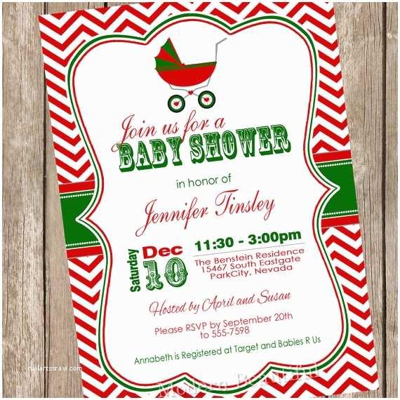Christmas Baby Shower Invitations Christmas Baby Shower Invitation Shower Invitation