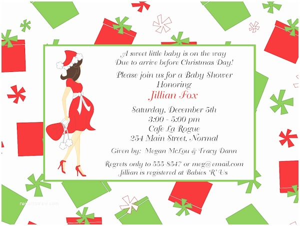 Christmas Baby Shower Invitations Christmas Baby Shower Invitations