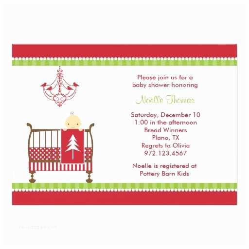 Christmas Baby Shower Invitations Christmas Crib Baby Shower Invitations