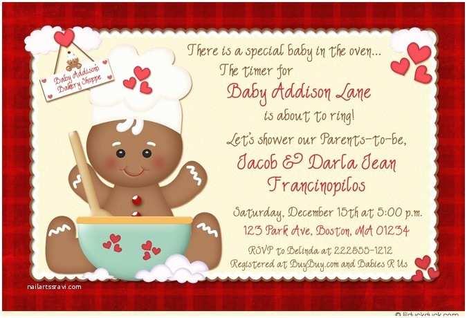 Christmas Baby Shower Invitations Christmas Gingerbread Baby Shower Invitations Holiday