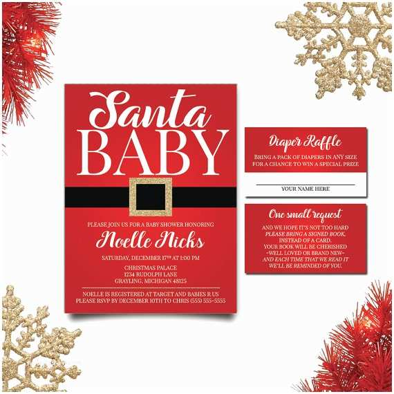Christmas Baby Shower Invitations Elegant Ideas for A Christmas themed Baby Shower