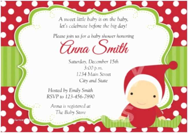 Christmas Baby Shower Invitations Etsy Baby Shower Invitations Sample the Best