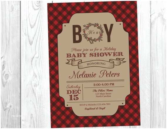 Christmas Baby Shower Invitations Holiday Christmas Baby Shower Invitation It S A Boy