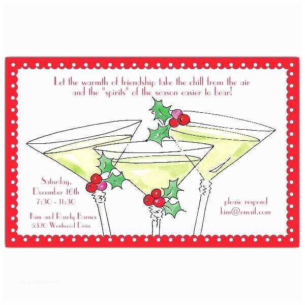 Christmas Cocktail Party Invitations Berrytinis Christmas Cocktail Invitations