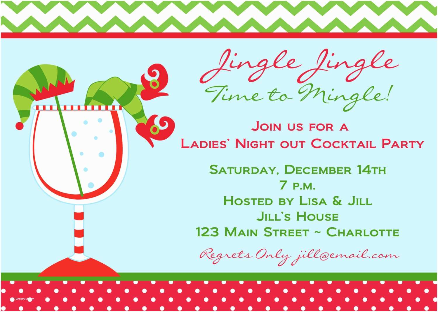 Christmas Cocktail Party Invitations Christmas Cocktail Party Invitations
