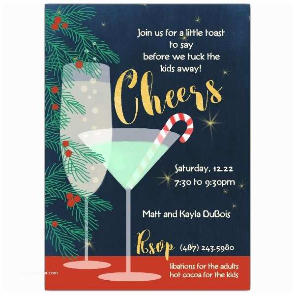 Christmas Cocktail Party Invitations Holiday Cheers Cocktail Party Invitations