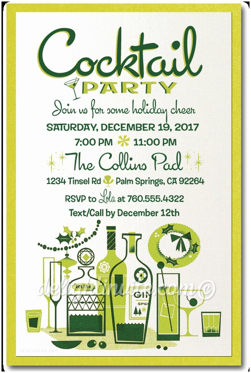 Christmas Cocktail Party Invitations Holiday Party Invitations Custom Invitations and